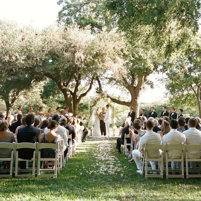 Garden Wedding Ceremony: A Elegant Garden Wedding In Austin, TX