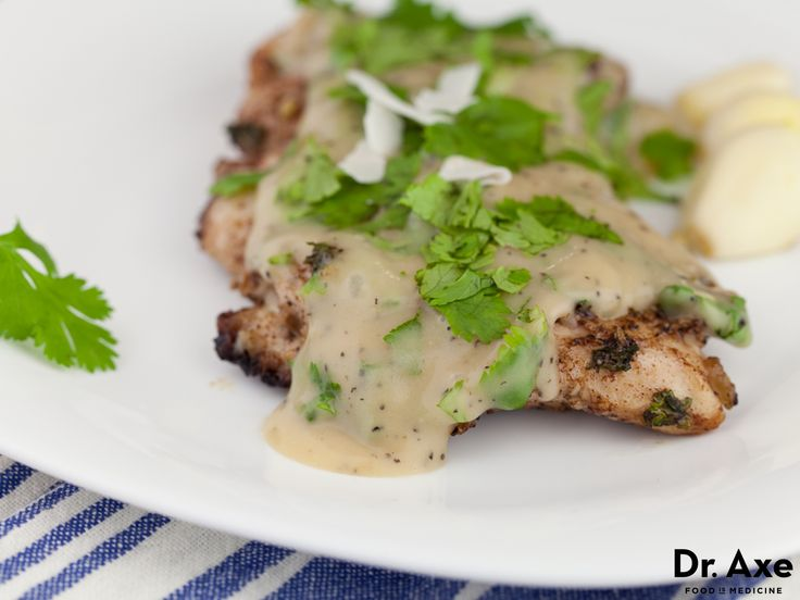 Baked Grouper with Coconut Cilantro Sauce