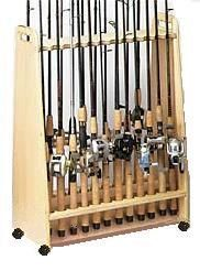 Mobile Free Standing Fishing Pole Rack  24 by MatlockWoodworks, $99.99