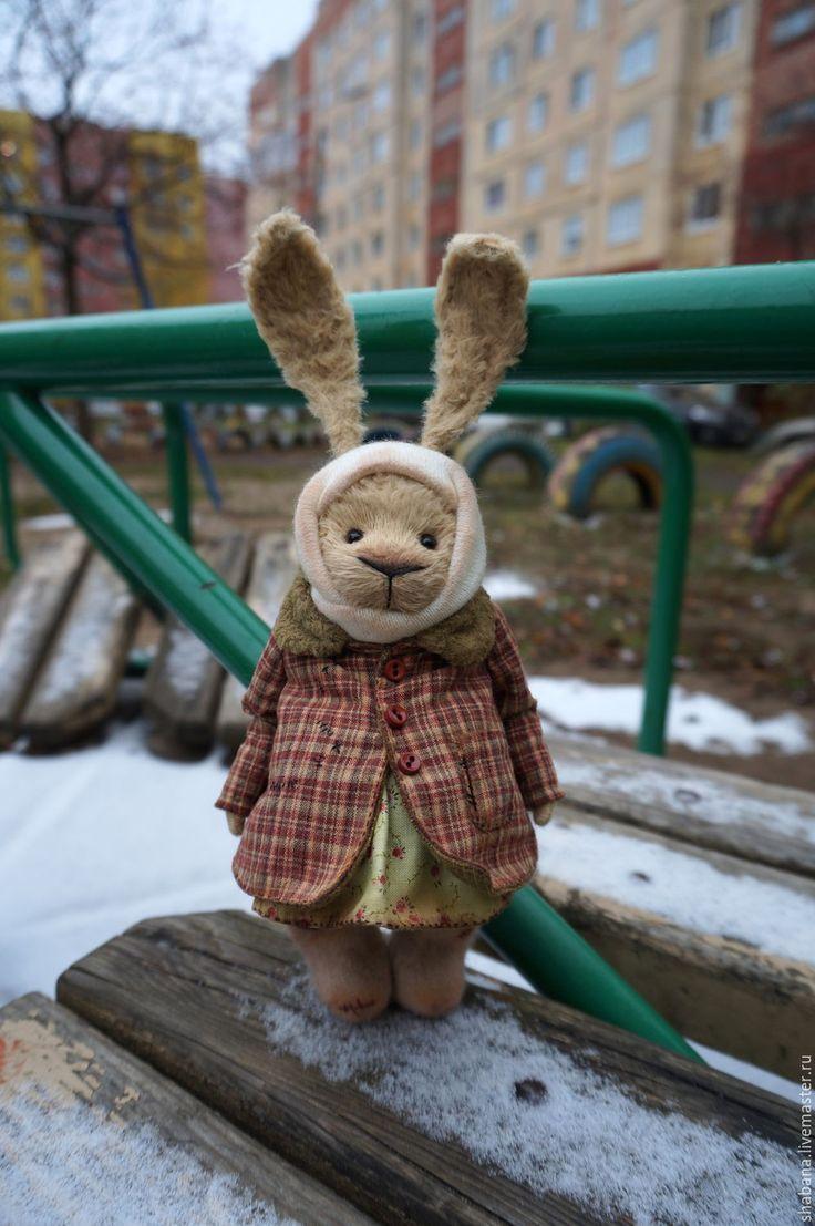 Купить New ЗайУшка тедди медведи - бежевый, винтажный стиль, украшение, интерьерная кукла