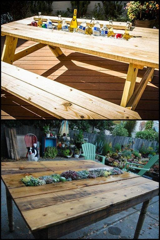 Why settle for a conventional table, when you can have these tables with built-in cooler/planter? Learn more by heading over to our site!