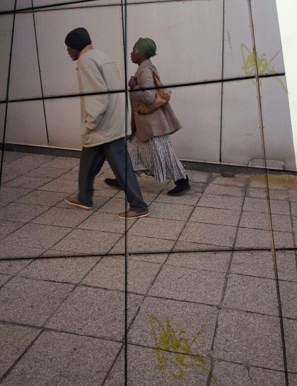 2 old folk. Johannesburg city. Lomography. Photo overlay