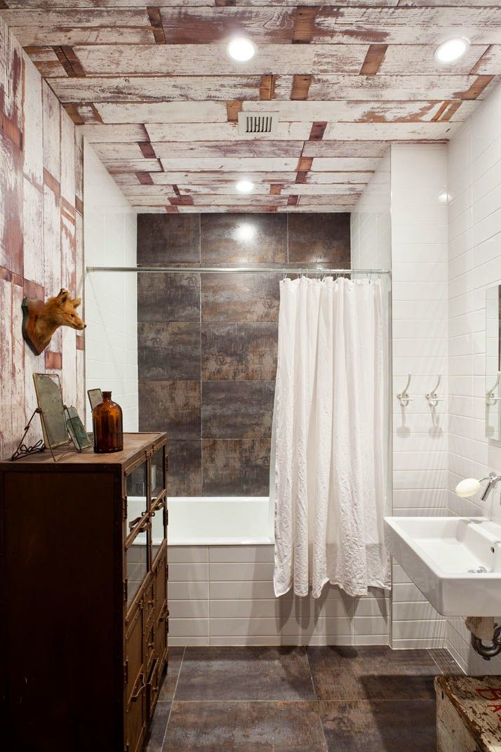 pallet ceiling-VM designblogg: Industrial Loft στη Νέα Υόρκη