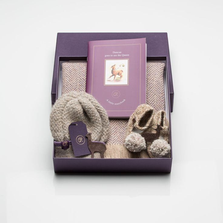 """A collection of our beautiful knitwear complete with our limited edition story book """"Duncan goes to see the Queen"""""""
