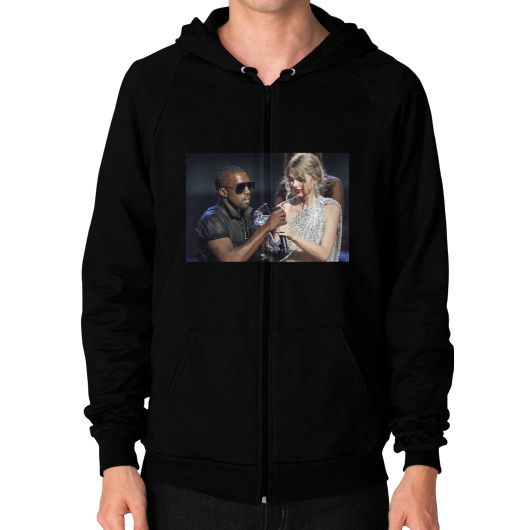 Kanye Taylor Zip Hoodie (on man) Shirt