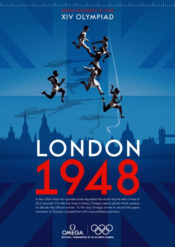 Poster: Graphic Design, Poster 1948 London Olympics, London 2012, Olympic Posters, Sports Posters, 2012 Olympic, Design Posters
