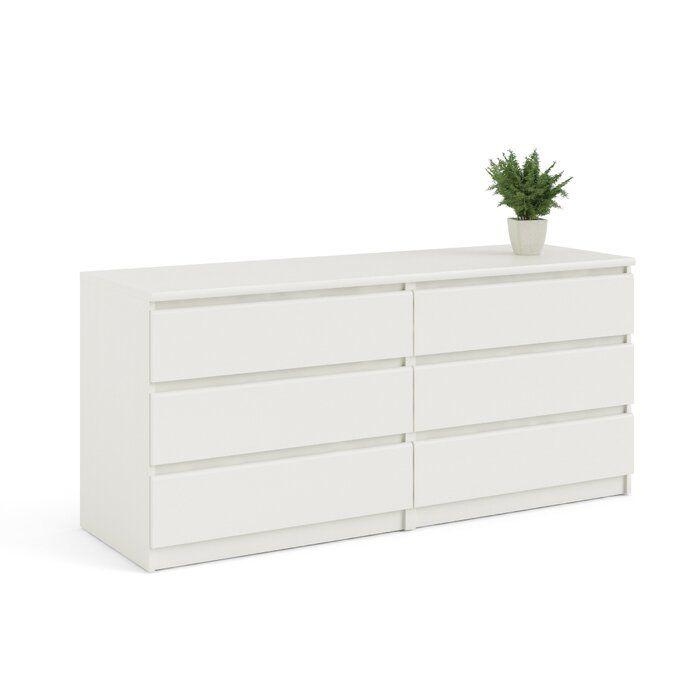 Kepner 6 Drawer Double Dresser White Dresser Bedroom Dresser