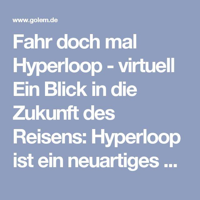 Fahr doch mal Hyperloop - virtuell  Ein Blick in die Zukunft des Reisens: Hyperloop ist ein neuartiges Transportmittel, das mit hoher Geschwindigkeit durch eine Röhre saust. Aber wie könnte so eine Fahrt aussehen? Eine VR-App soll das demonstrieren.  Der Hyperloop soll, so hat Erfinder Elon Musk ihn konzipiert, rund 1.200 Kilometer pro Stunde schnell sein. Eine Fahrt von Amsterdam nach Paris würde nur 30 Minuten dauern. Gut so - denn Hyperloop-Reisen könnten ziemlich eintönig sein.
