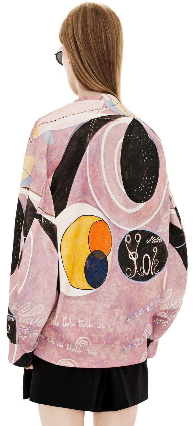 Hilma Af Klint Collection :  Beta h.k black/pink print. Acne Studios.