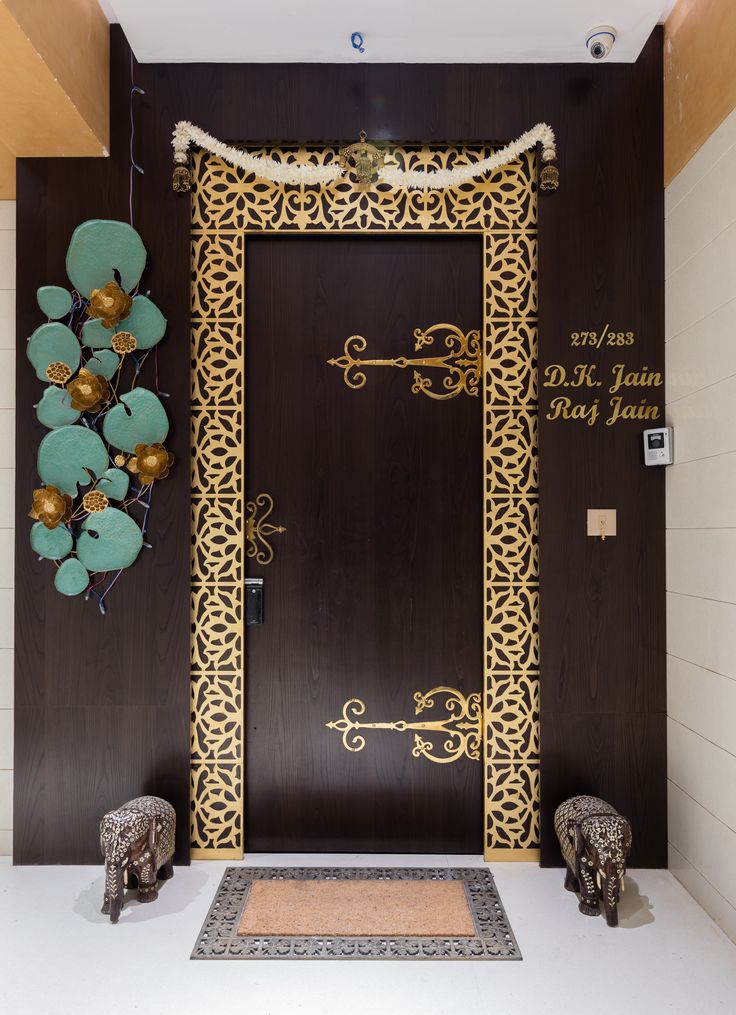 117 best pooja room images on pinterest for Indian main door