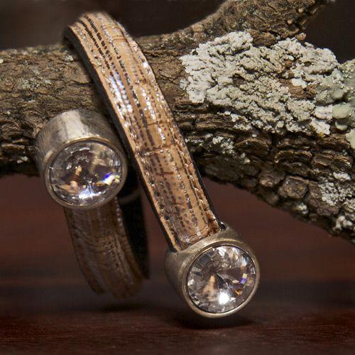 Silver Cork Open Bracelet