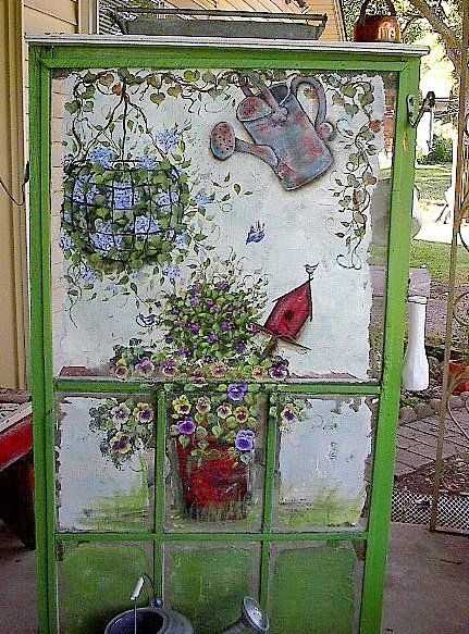 411 Best Images About Painted Windows And Screens On