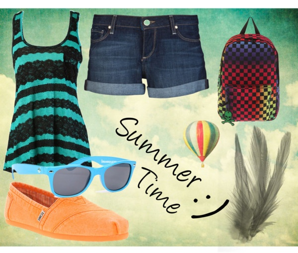 """""""Summer Time"""" by allanaaaa on Polyvore"""