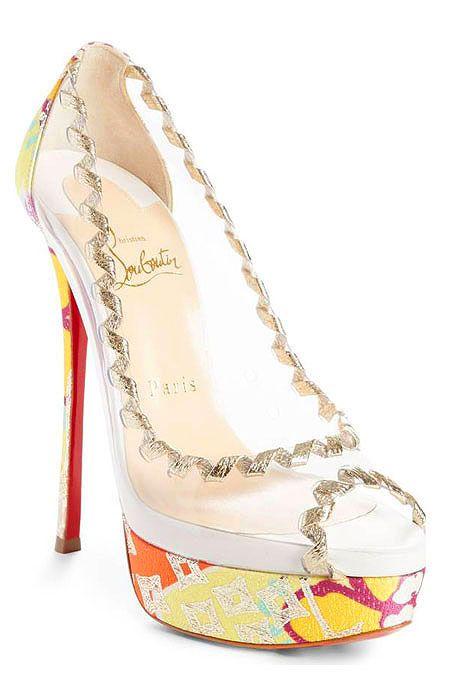 fe4274f7179 Christina Louboutin spring-summer 2018 shoes  sandals  pumps