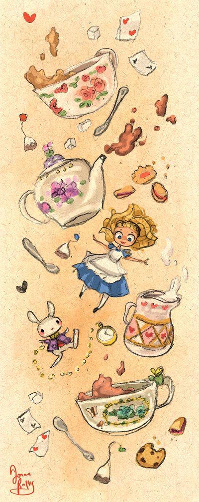 Down the Rabbit Hole for Tea by rue789.deviantart.com on @DeviantArt