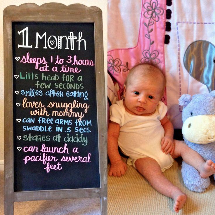 1 Month Baby Chalkboard