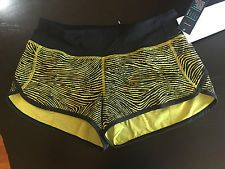 Lululemon Seawheeze 2016 Speed  shorts size 8 Blacked  Out/Black