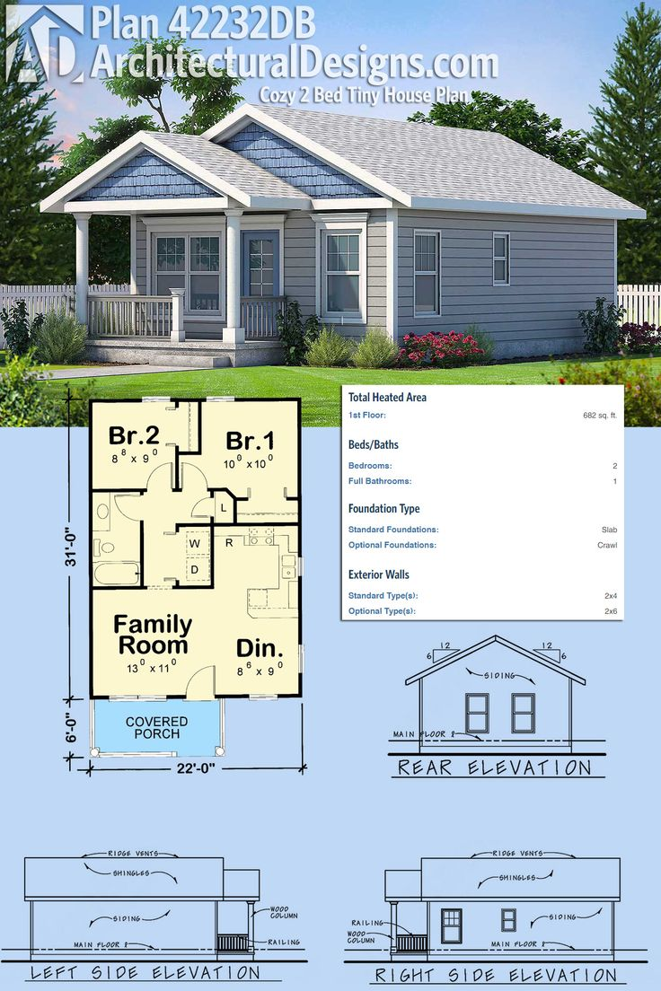 Plan 42232wm four bedrooms or three tiny house plans for Tiny house plans with porches