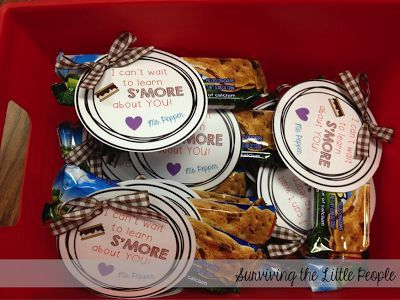 Surviving the Little People: I need s'more time!!! Back to school /welcome to school s'more student gift- cute!!