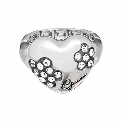 Δαχτυλίδι Guess Ασημένιο με Καρδιά - BeMine.gr