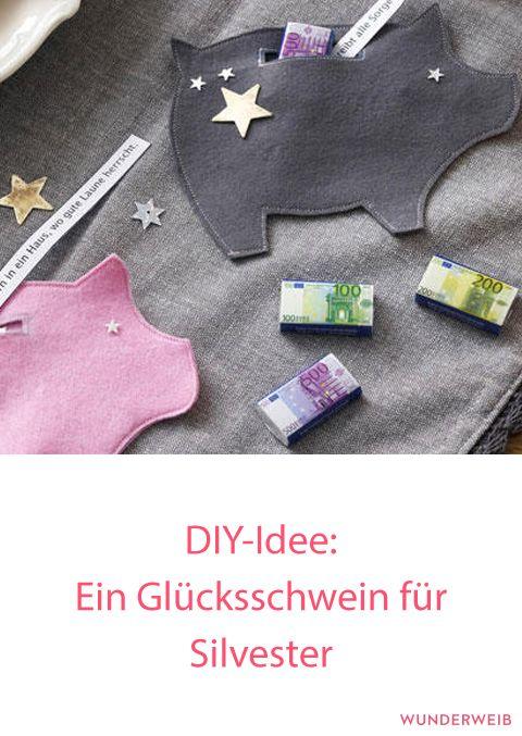 Über dieses kleine DIY-Geschenk werden sich deine Party-Gäste an Silvester ganz sicher freuen. #diy #anleitung #silvester