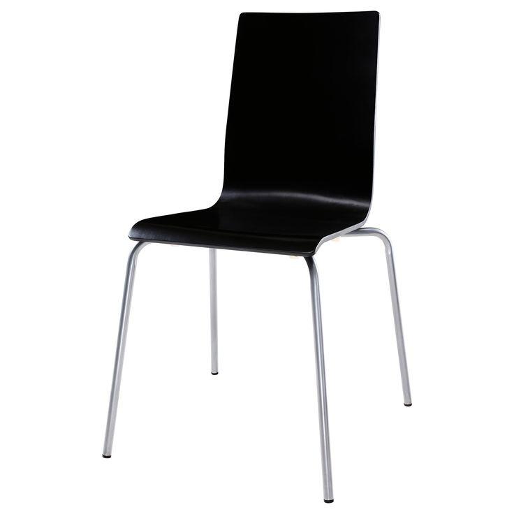 Billigaste varianten, håller den? Finns svart och vit 199:- MARTIN Stol - silverfärgad/svart - IKEA