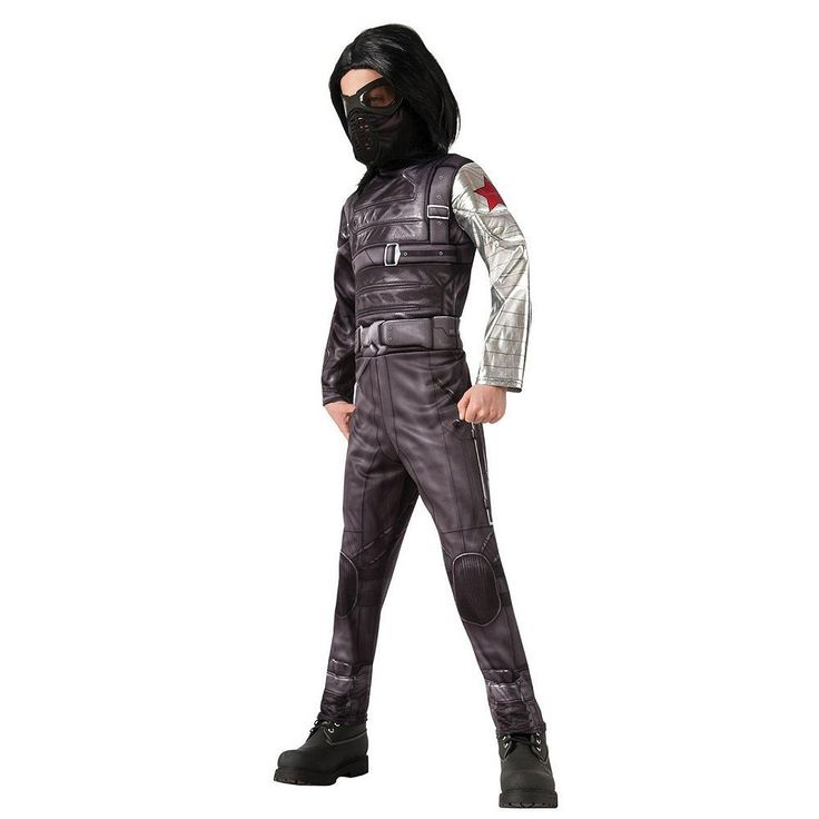 Captain America: The Winter Soldier Deluxe Winter Soldier Costume - Kids, Boy's, Size: 4-6, Black