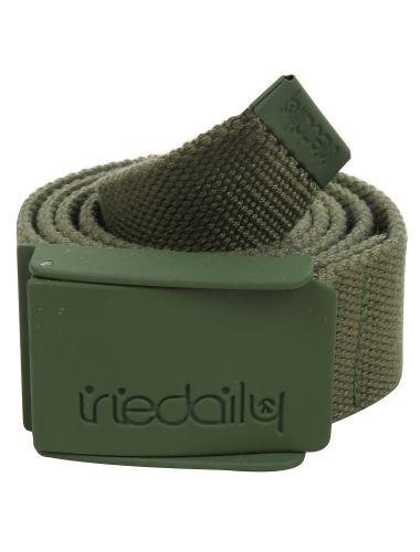 Stainless Rubber Belt [green olive] // #iriedaily // www.iriedaily.de
