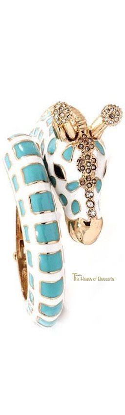 ~Tiffany Blue Giraffe Enameled Bangle Bracelet | The House of Beccaria