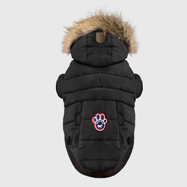 Canada Pooch North Pole Parka | Protect your pooch on the coldest of days with this puffy water-resistant dog parka