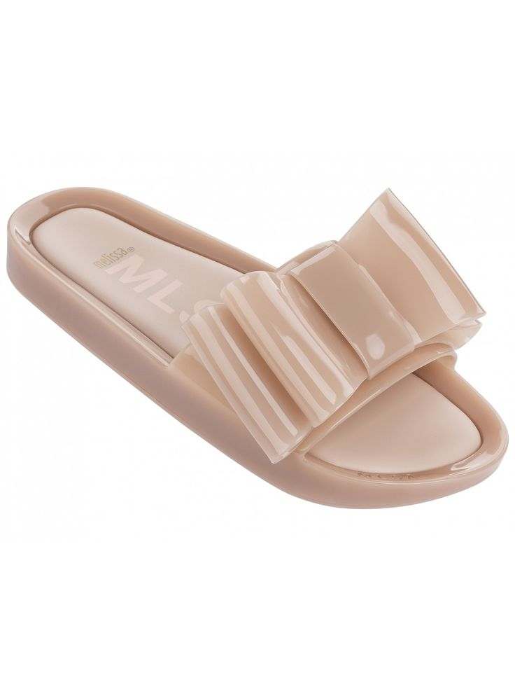 Beach Slide Bow Nude | Melissa Shoes at NONNON.co.uk