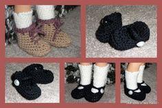 chaussures chaussettes vêtements pour poupée au crochet, modèles gratuits