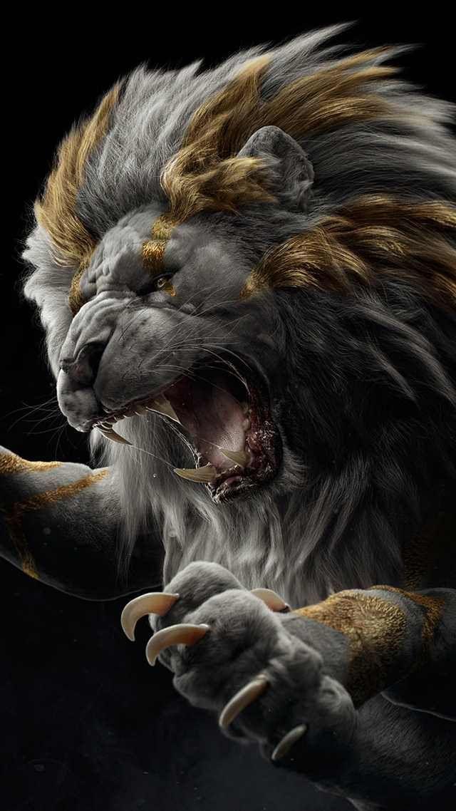 Leo Post Lion Wallpaper Gorilla Wallpaper Black And White Lion