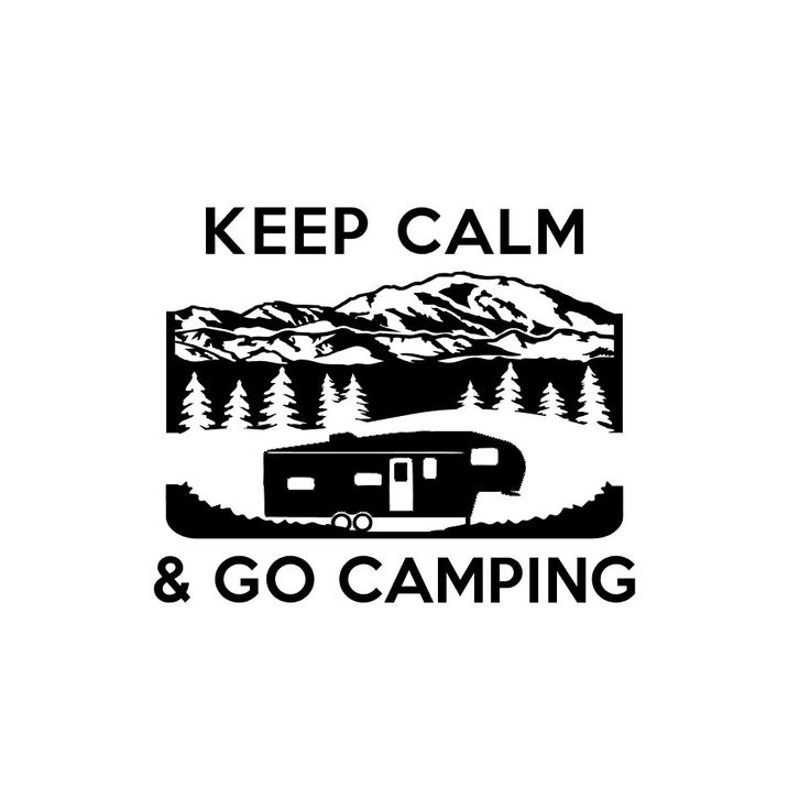 Keep Calm Camping with 5th Wheel Travel Trailer RV Camper Vinyl Decal by TheChaoticMind on Etsy
