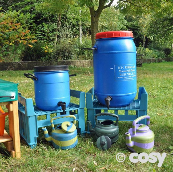 LARGER RECYCLED DRUM AND TAP - Cosy Direct