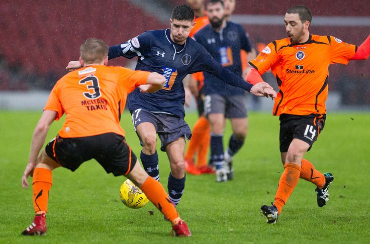 Queen's Park's Paul Woods in action during the Ladbrokes League One game between Queen's Park and Stranraer.
