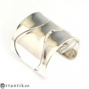 impresionanta bratara modernista - Manchette - argint - Franta