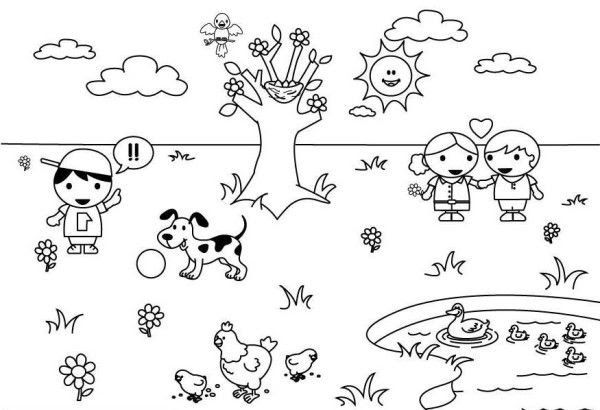 Spring Weather Coloring Pages Spring Coloring Pages Coloring Free Printable  Colorin… Spring Coloring Pages, Kindergarten Coloring Pages, Coloring  Pages For Kids