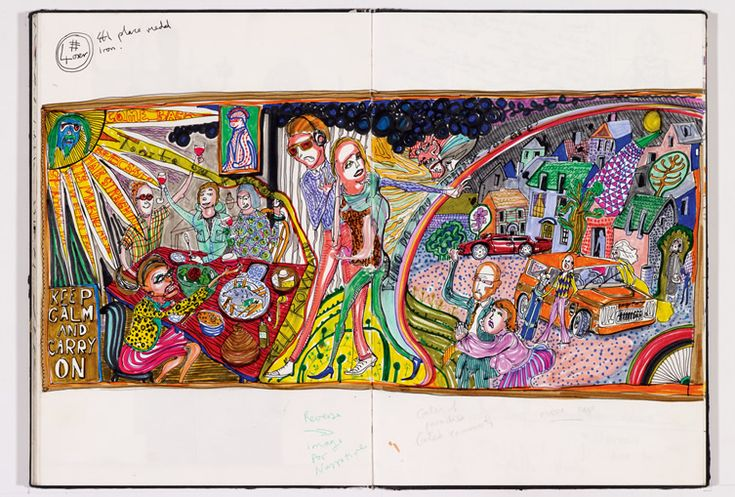 Grayson Perry - sketch for tapestry