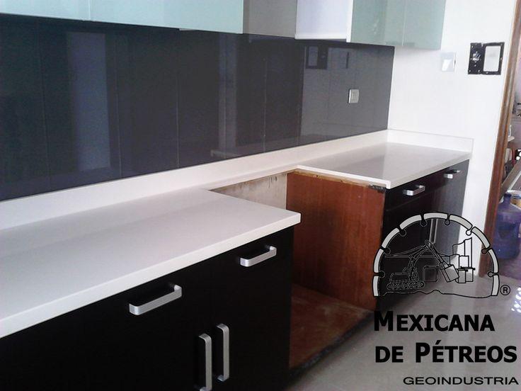 cubiertas de cuarzo blanco para cocinas integrales y barras MEXICANA DE PETREOS