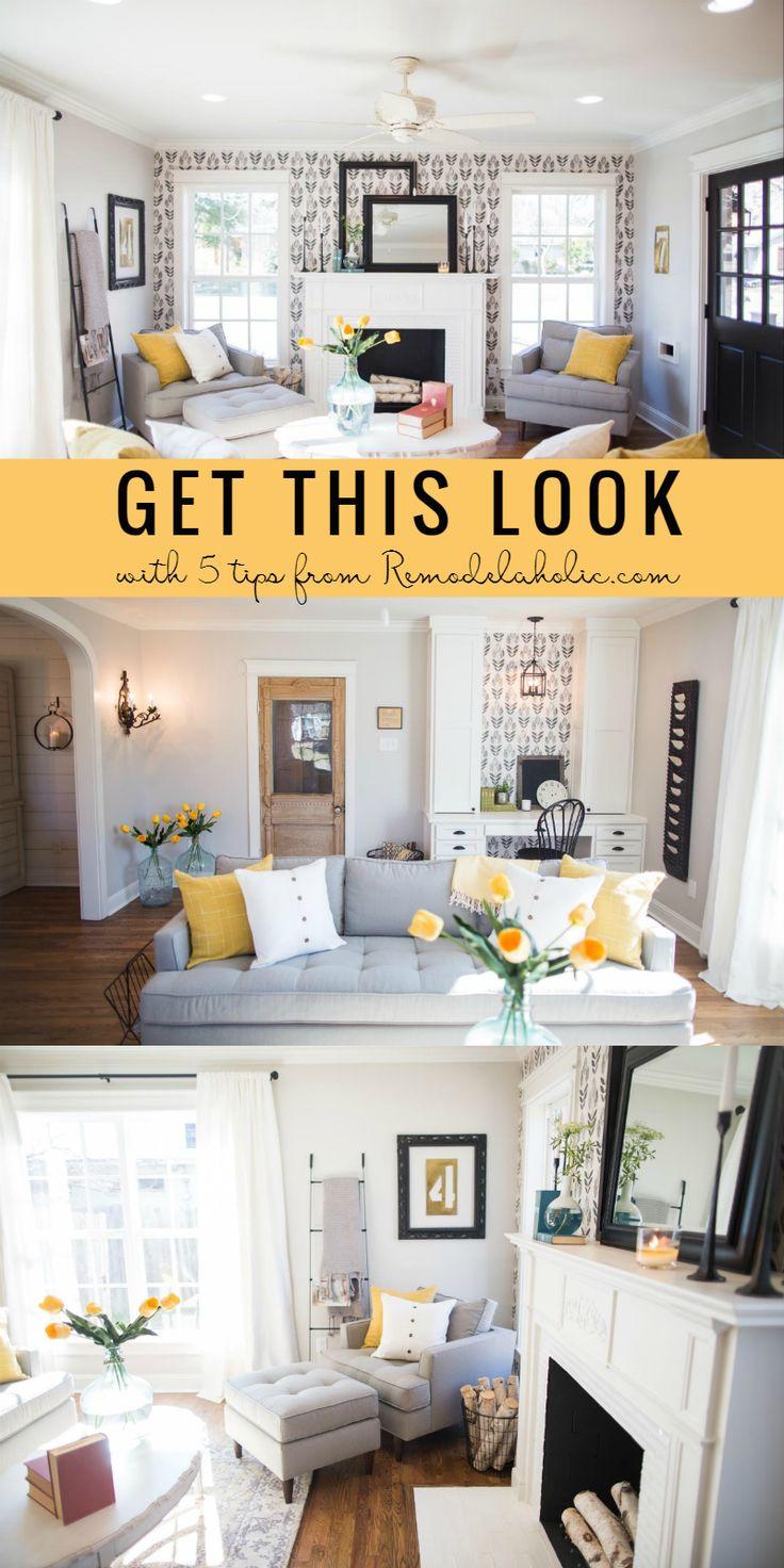 Sarah richardson farmhouse living room - Create This Contemporary Farmhouse Living Room Style From Fixer Upper S Chicken House Episode