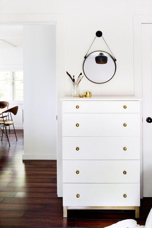 Smitten Studio - bedrooms - Dutch Boy - Gray Whisper - Ikea Tarva, Brass Knob, ikea hack,