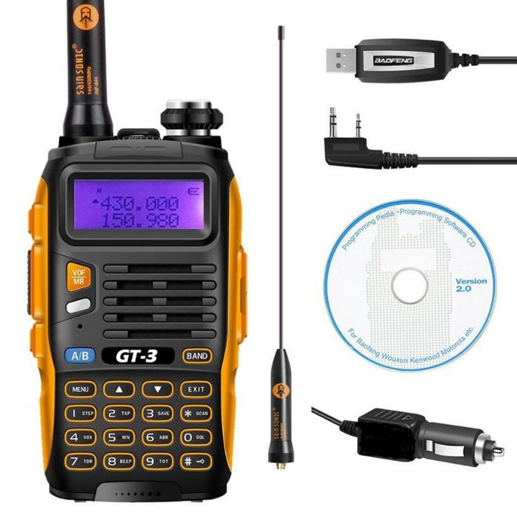 Baofeng GT-3 two way radio dual band 136-174/400-520 MHz powerful Dual Band FM Ham Radio Walkie Talkie for hunting  Click visit for check price #walkietalkie