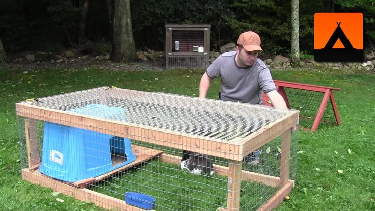 How to build a rabbit hutch cheap and easy for Cheap c c cages
