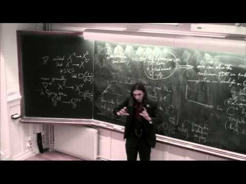 Cédric Villani - From KAM Theory to Landau Damping, IHP 30/09/2013 - Part 1 - YouTube