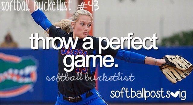 Softball Bucket List