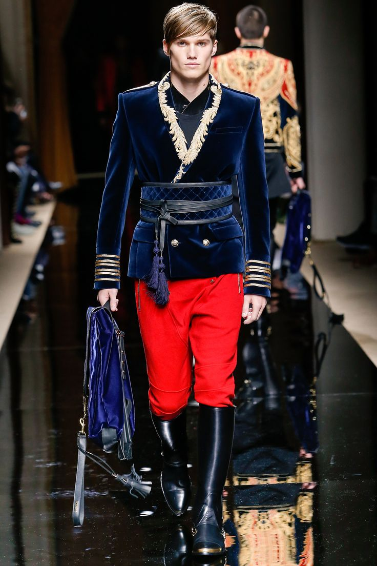 Balmain Fall 2016 Menswear Fashion Show Balmain Fall