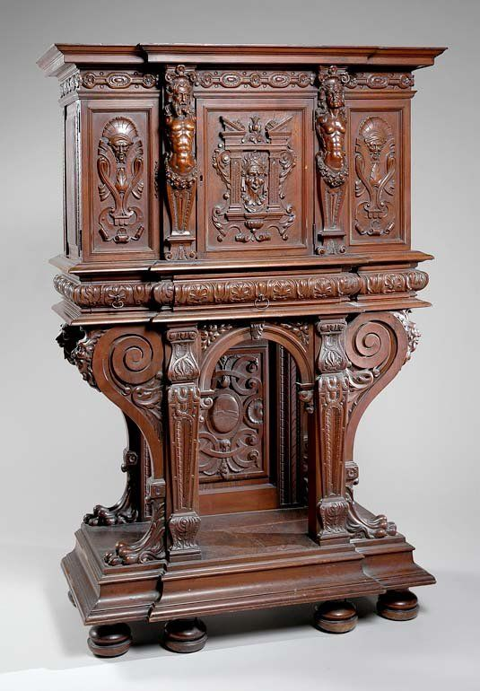Merveilleux 2101: French Renaissance Revival Carved Walnut Cabinet On. Victorian  FurnitureVintage ...
