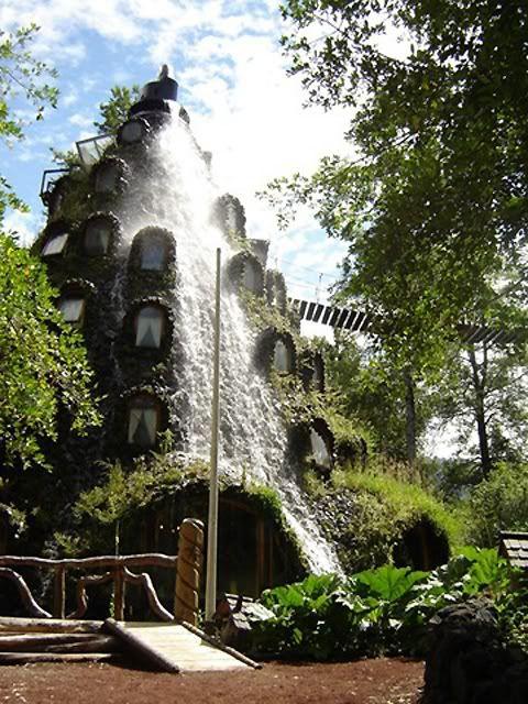 Magic Mountain Hotel, Huilo Huilo Private Natural Reserve, Chile.
