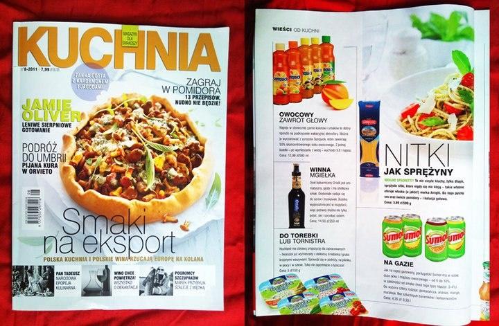 Kuchnia. Magazyn dla smakoszy - 08.2011  Portugalski napój gazowany SUMOL  Portuguese drink Sumol